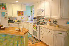 Colorful nice kitchen